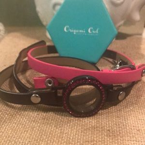 Origami Owl Wrap Living Locket & Two Leather Wraps
